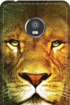 3D -  Moto G5 Lion Face Mobile Cover