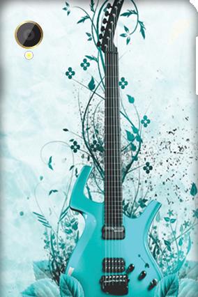 Silicon - Intex Aqua Power Blue Guitar Mobile Cover