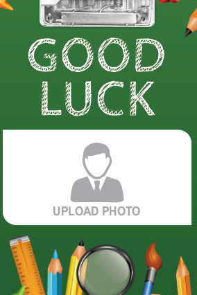 Personalized Good Luck Examboard