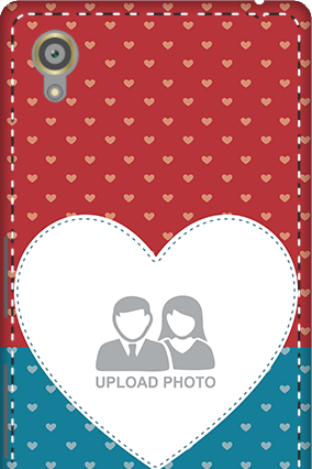 3D - Sony Xperia X Colorful Heart Valentine's Day Mobile Cover