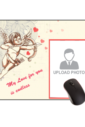 Cupid Strikes Valentine Day Rectangular Mouse Pad