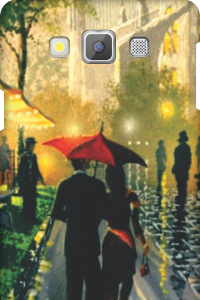 Designer Samsung Galaxy A7 Romantic Walk Mobile Cover