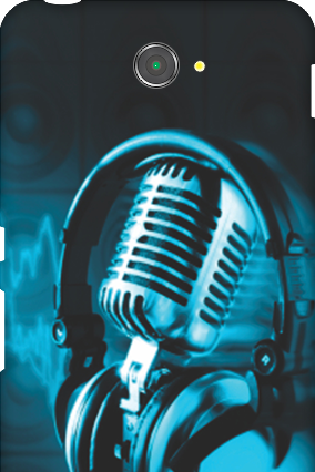 Silicon - Sony Xperia E4 Headphones Mobile Cover