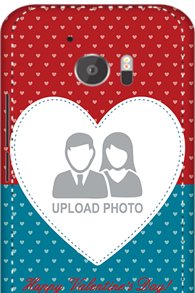 3D - HTC M10 Colorful Heart Valentine's Day Mobile Cover