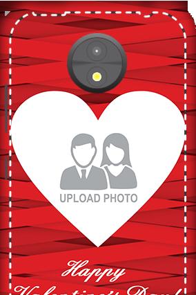 3D -  Motorola Moto C Big Heart Valentine's Day Mobile Cover