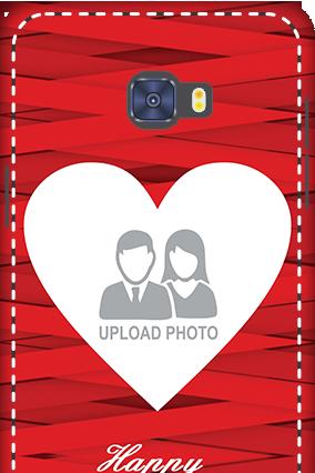 Premium 3D-Samsung Galaxy C7 Pro Big Heart Valentine's Day Mobile Cover