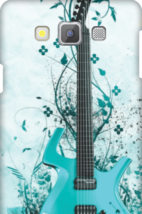 Samsung Galaxy A7 Blue Guitar Mobile Cover