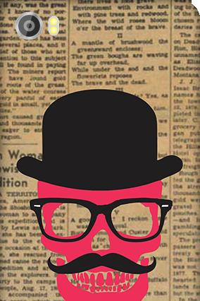 Designer Silicon - Lava Iris X8 Hatted Man Mobile Cover