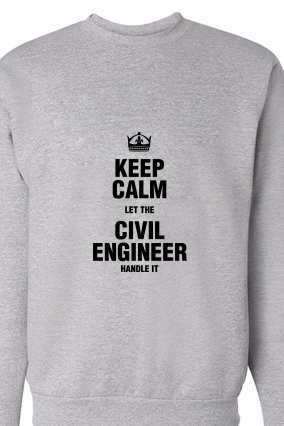 Civil Engineer Black Print Gray Sweatshirt