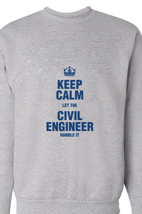 Civil Engineer Blue Print Gray Sweatshirt