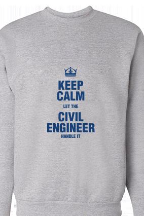 Civil Engineer Blue Print Gray Sweatshirt