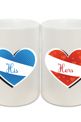His and Hers Couple Coffee Mugs
