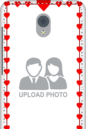 Personalized 3D-Vivo Y21L Heart Valentine's Day Mobile Cover