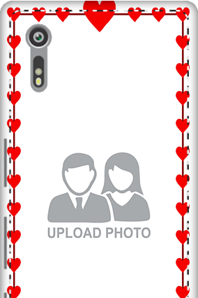 Customised 3D-Sony Xperia XZ Heart Valentine's Day Mobile Cover