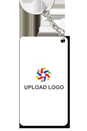 Customized Upload Logo Small Rectangle Key Ring