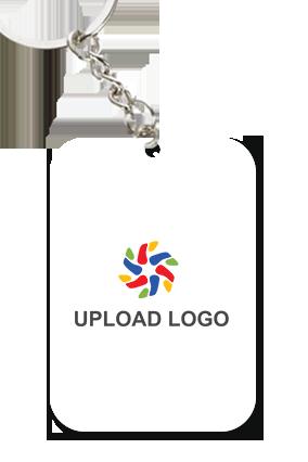 Customised Upload Logo Big Rectangular Key Ring