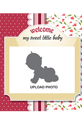 Customized Sweet Baby Square Canvas Print