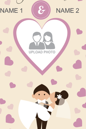 Custom Cute Wedding Canvas Print