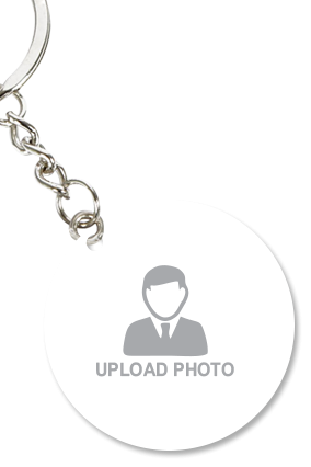 Upload Photo Round Key Chain