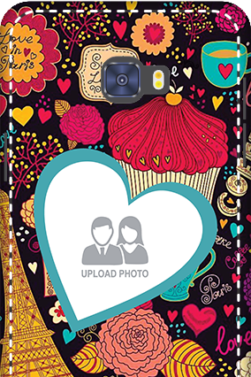 Printed 3D-Samsung Galaxy C7 Pro Paris Valentine's Day Mobile Cover