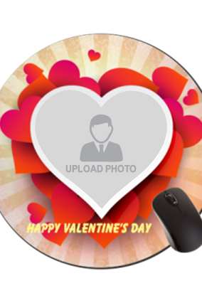 Platter of Love Valentine Day Round Mouse Pad