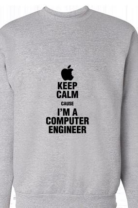 Computer Engineer Black Print Gray Zip Sweatshirt
