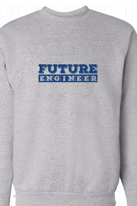 Future Blue Print Gray Sweatshirt