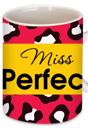Miss Perfect Red Personalized  Mug