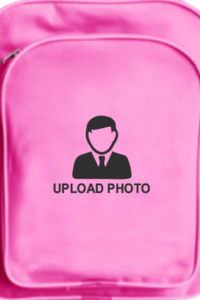 Upload Photo School Bag