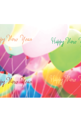 Bright Balloons New Year Wrapping Paper
