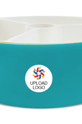 Upload Logo Trio Serving Bowl H79 Blue