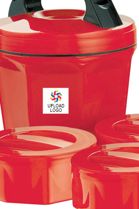 Promotional Upload Logo Octomeal Lunch Box H86 Red