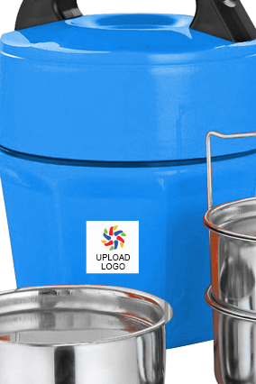 Upload Business Logo Octomeal Lunch Box H87 Blue