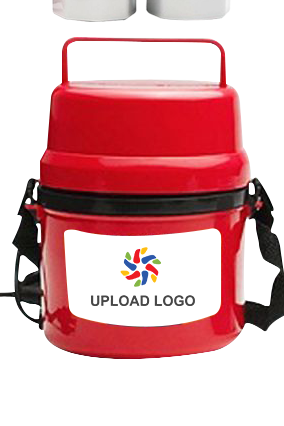 Upload Logo Electra Lunch Box  H06 Red