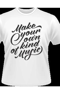 Music white T-shirt
