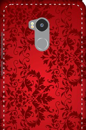 3D - Redmi 4 Prime Red Color Mobile Cover
