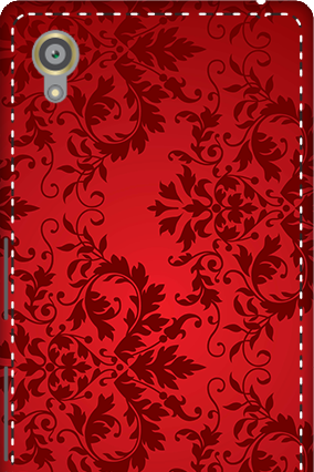 3D - Sony Xperia X Red Color Mobile Cover