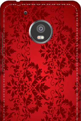 3D -  Moto G5 Red Color Mobile Cover