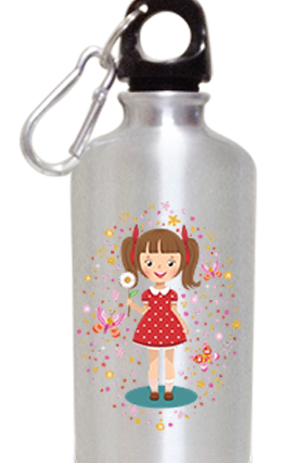 Cool Girl 400ml Silver Sipper