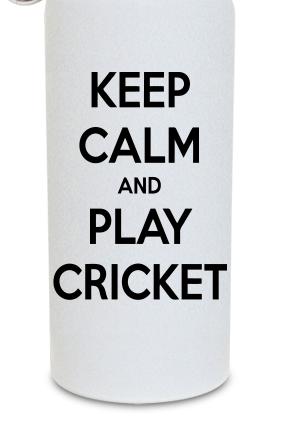 Play Cricket 600ml White Sipper