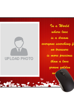 Love in The Air Valentine Day Rectangular Mouse Pad