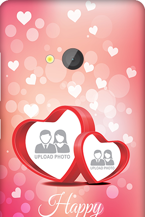 Silicon -Microsoft Lumia 540 Floral Hearts Anniversary Mobile Cover
