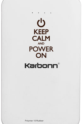 Keep Calm 10000mAh Karbonn Power Bank