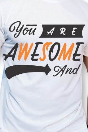 Effit Awesome White Mega Print T-shirt