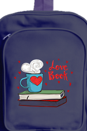 Personalized Love Book School Bag