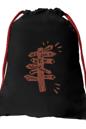 New Beginning Black Gym Sack Bag