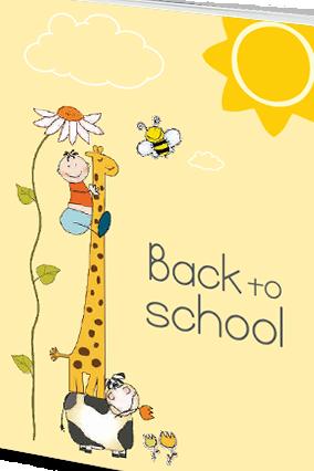 Customize Effit Back-to-School Giraffe Notebook