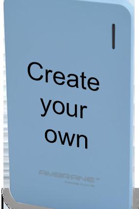 Create Your Own 4000mAh Ambrane Power Bank Sky Blue