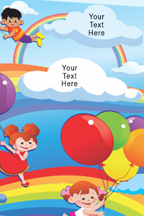 Colorful Balloons Folder