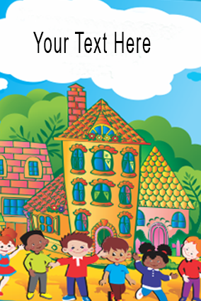 Personalized Happy Kid's World Folder